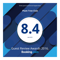 Plumtree Club Guest 8.4 Review Award 2016